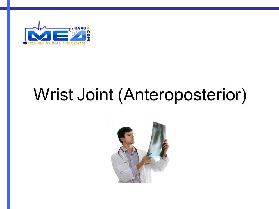 Wrist Joint (Anteroposterior)