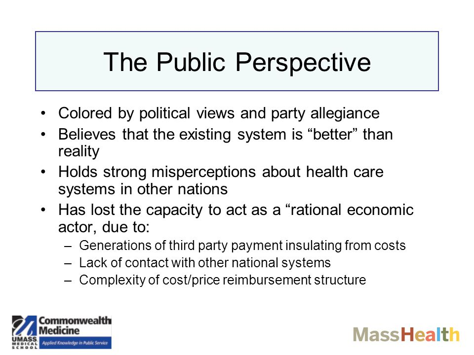 Politics of Health Reform in the USA THE OPPOSITION Doctors –S–Specialists ☟ –G–General Practitioners ☝ Pharmaceutical Industry Hospitals Health Insurance Companies Employers & Trade Associations Unions Conservative Politicians