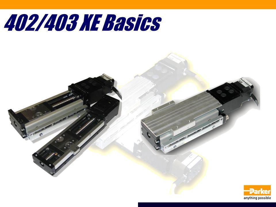 Compared to 401/402XR 402XR 403XE 402XE 402XR403XE401XR402XE Width57.1mm60mm40.9mm50mm Height57.1mm30mm49.5mm23mm Max Travel600mm655mm300mm220mm Repeat (+/-)12 micron+/-5 micron5-12 micron+/-5 micron Straightness20-30 micron15-25 micron20-25micron15 micron Load220 lbs425 lbs110 lbs261 lbs Max Speed1440 mm/s810 mm/s500 mm/sec490 mm/sec Leads5, 10mm 2, 5mm 401XR