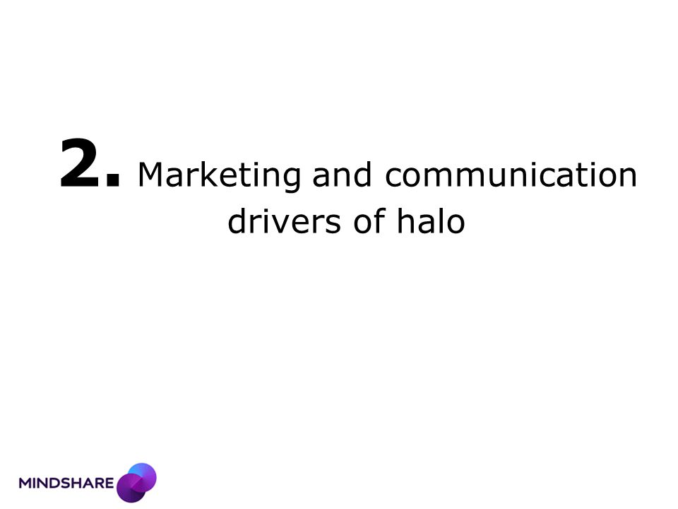 2. Marketing and communication drivers of halo
