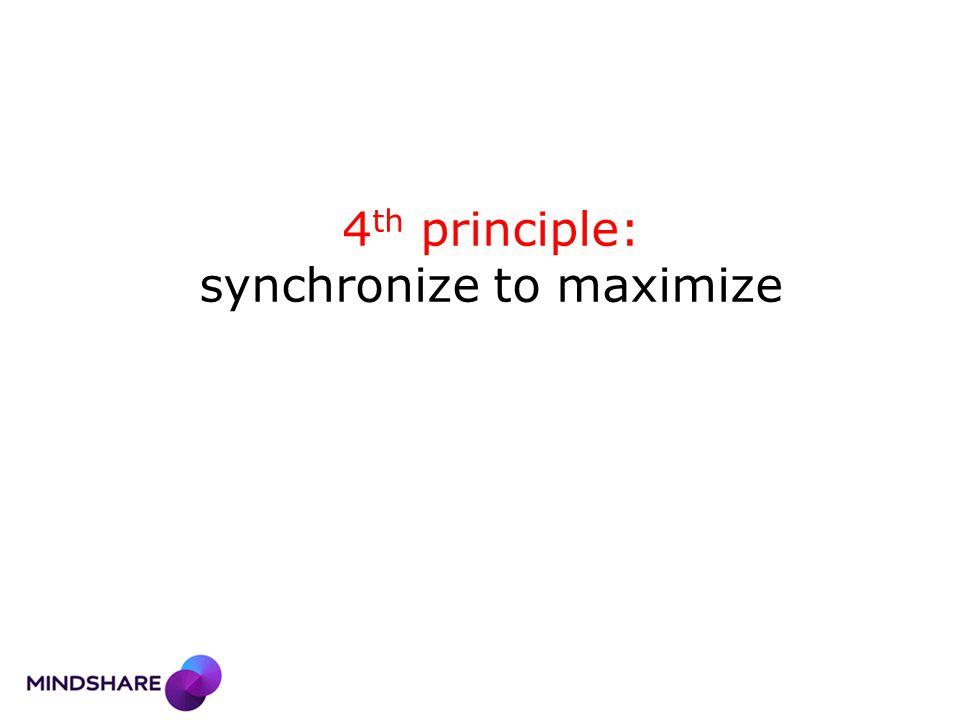 4 th principle: synchronize to maximize