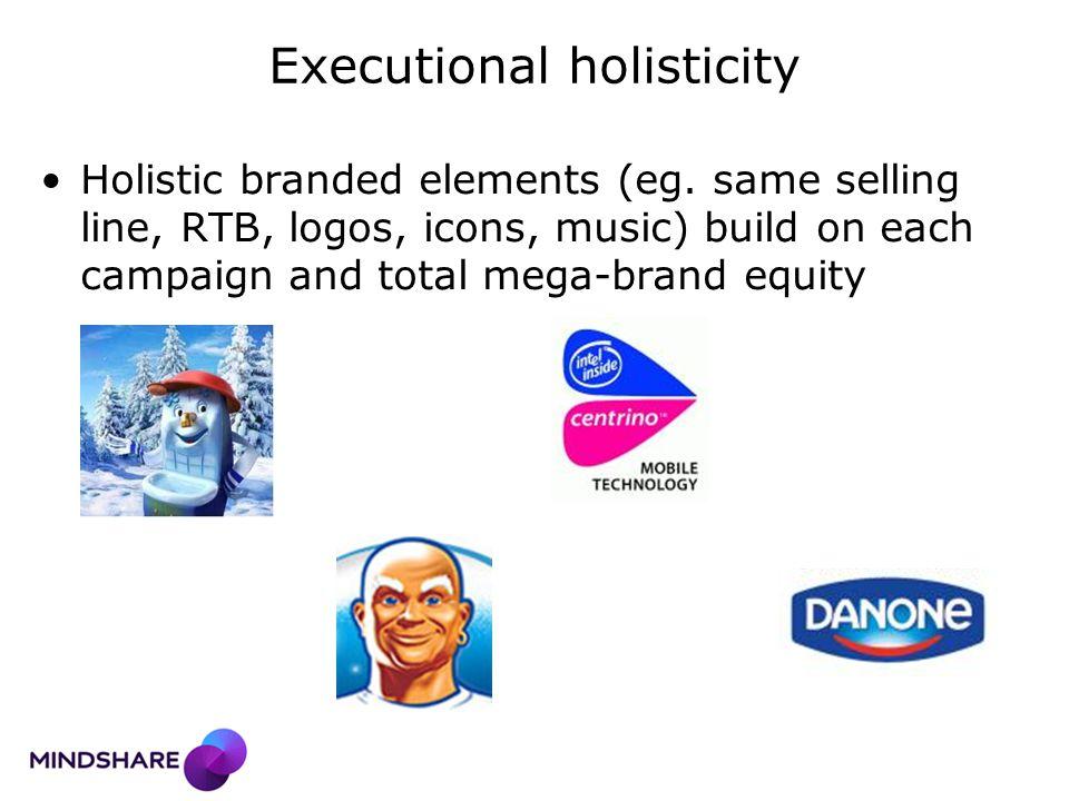 Executional holisticity Holistic branded elements (eg.
