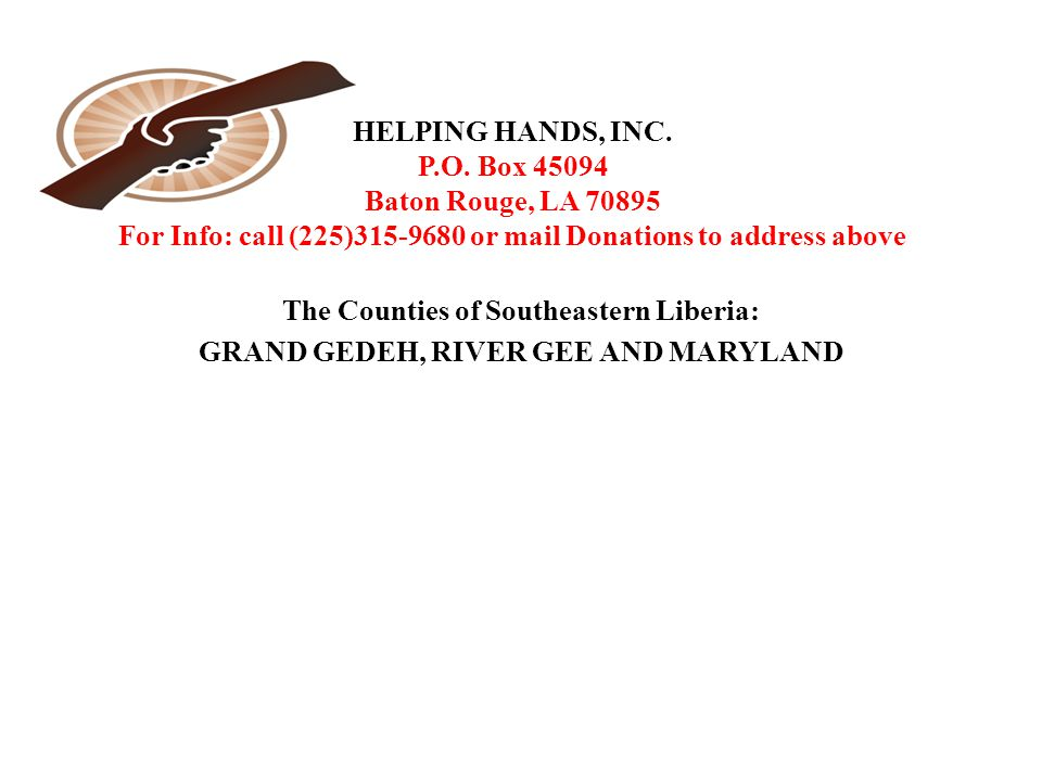 HELPING HANDS, INC. P.O.