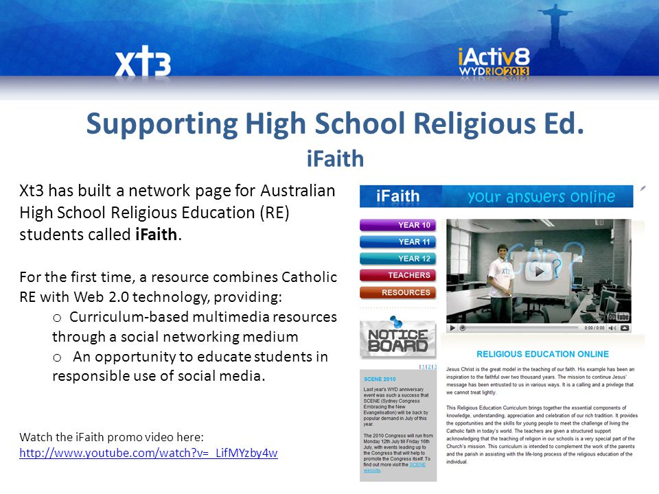 Supporting High School Religious Ed.