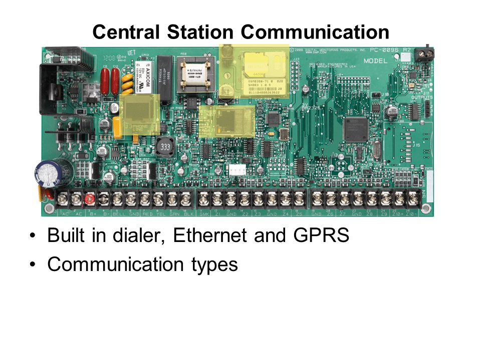 Central Station Communication Built in dialer, Ethernet and GPRS Communication types