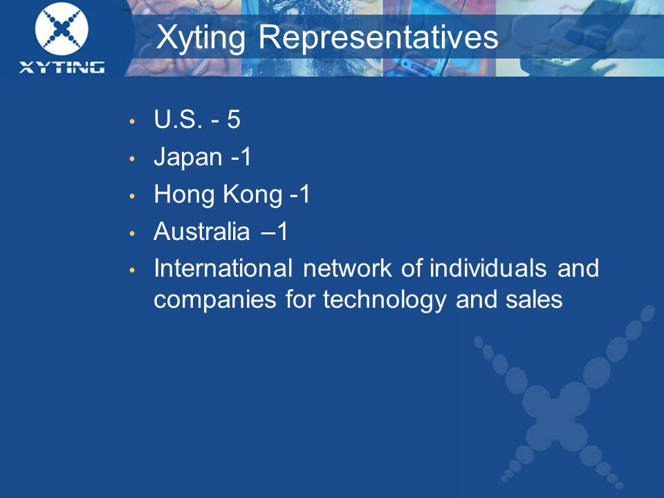 Xyting Representatives U.S.