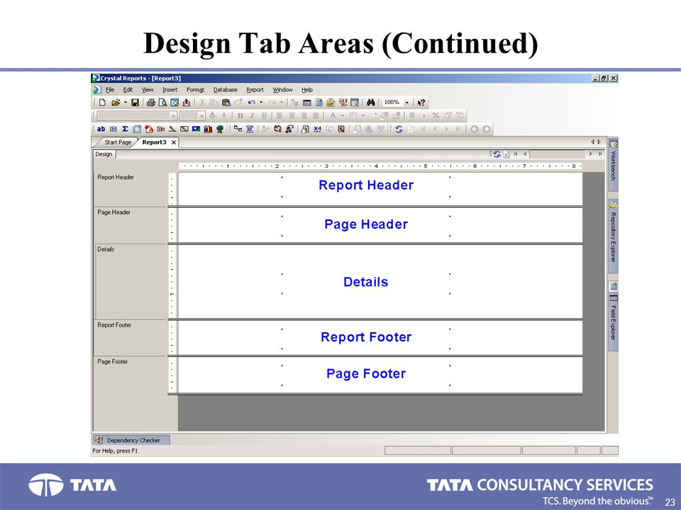 23. Design Tab Areas (Continued)
