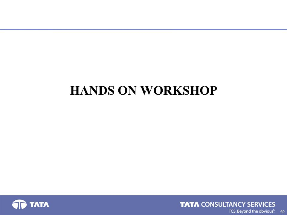 50. HANDS ON WORKSHOP