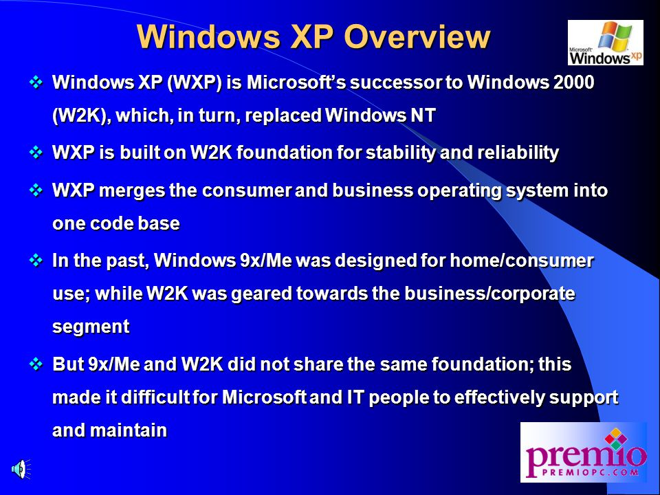 Agenda  Windows XP Overview  Key Features  Home Edition and Professional  WPA and SLP  How Does WPA Works.
