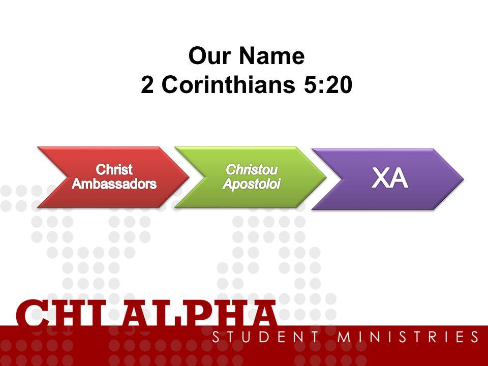 Our Name 2 Corinthians 5:20