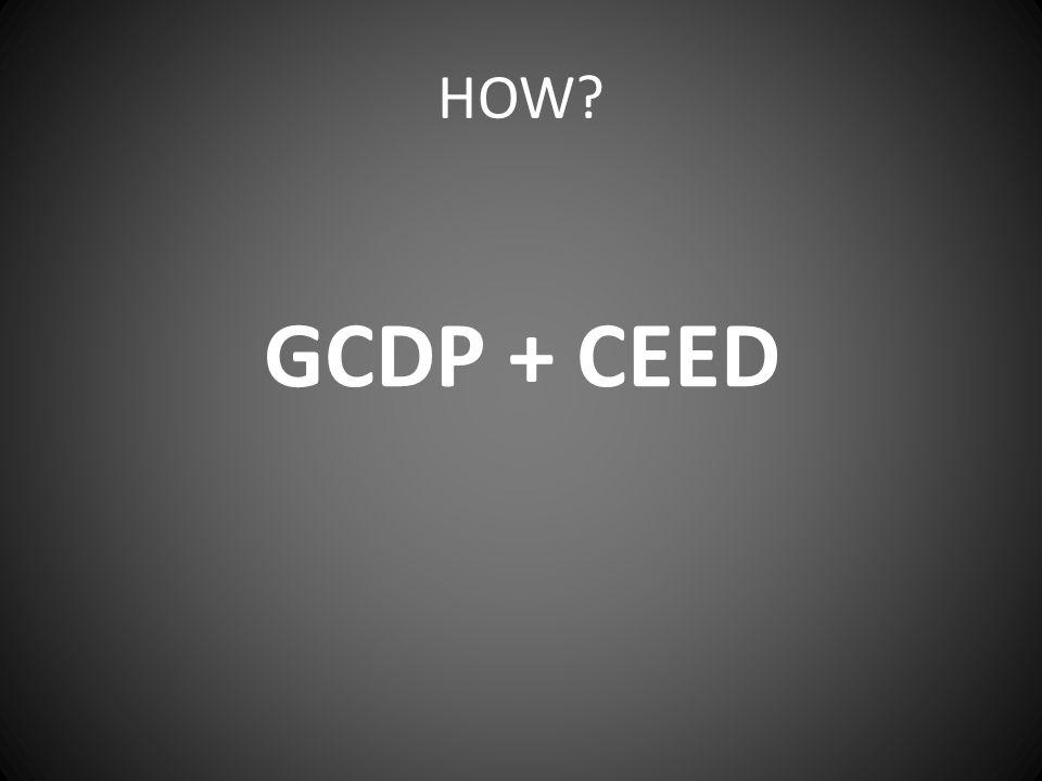 HOW GCDP + CEED