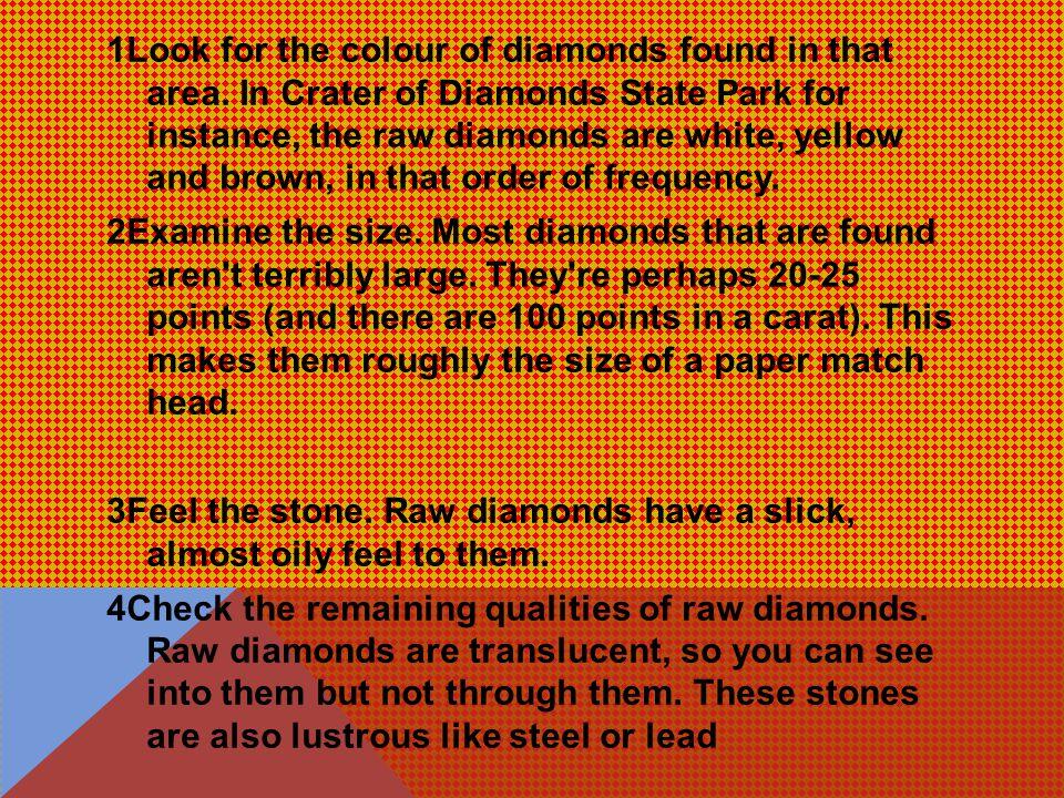 HOW TO IDENTIFY RAW DIAMOND