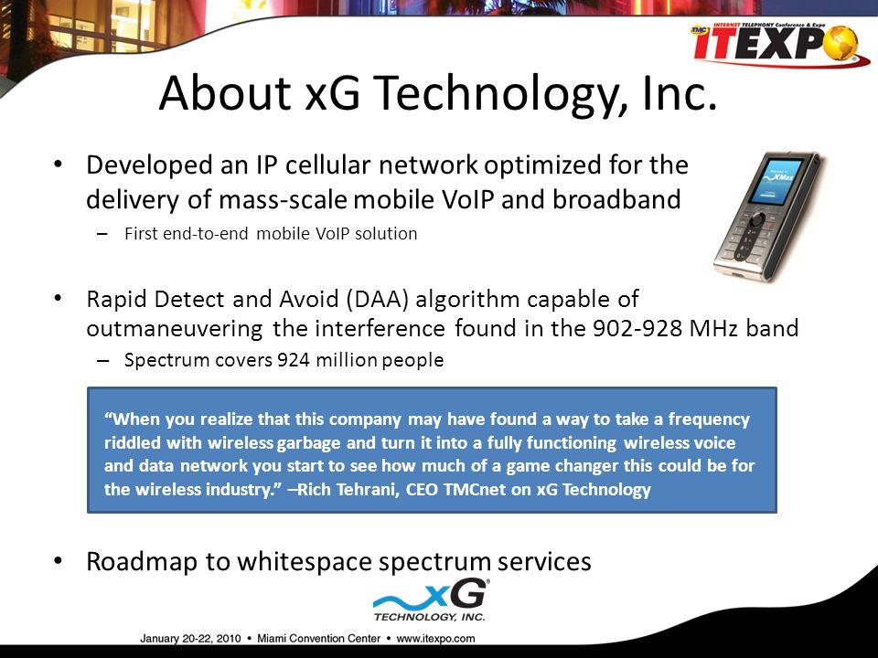 About xG Technology, Inc.