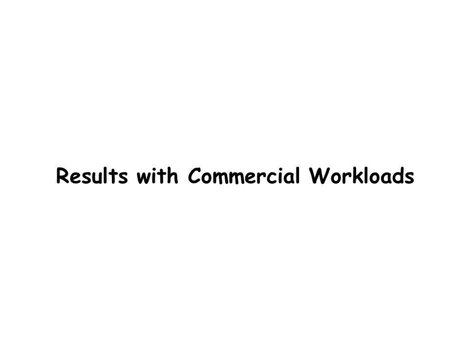 Results with Commercial Workloads