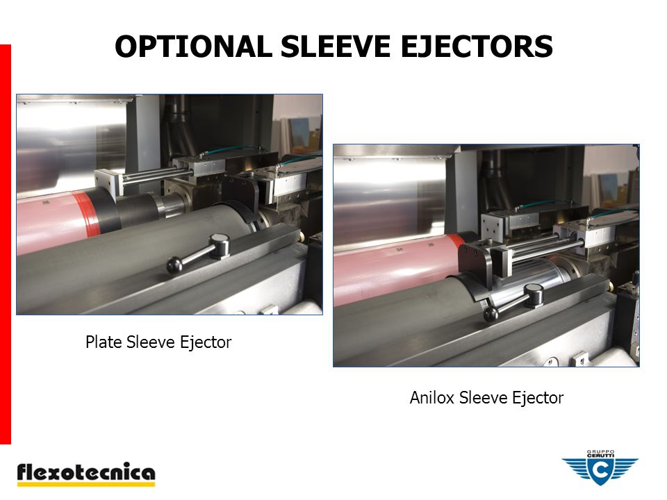OPTIONAL SLEEVE EJECTORS Plate Sleeve Ejector Anilox Sleeve Ejector