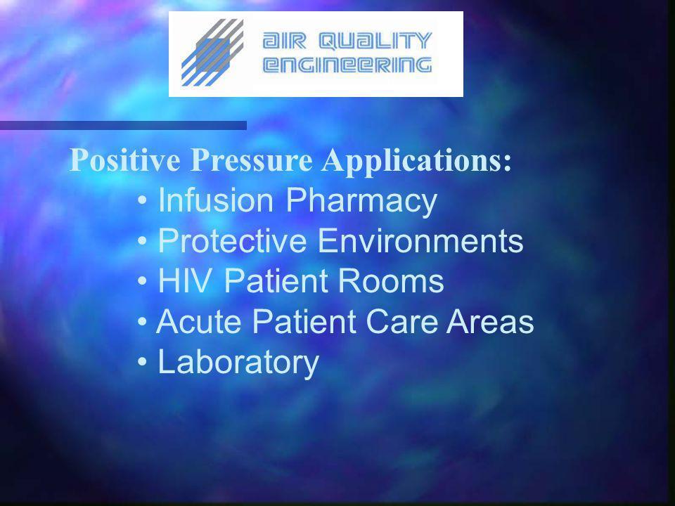 Negative Pressure Applications: Mycobacterium Tuberculosis SARS Bird Flu Measles and Smallpox