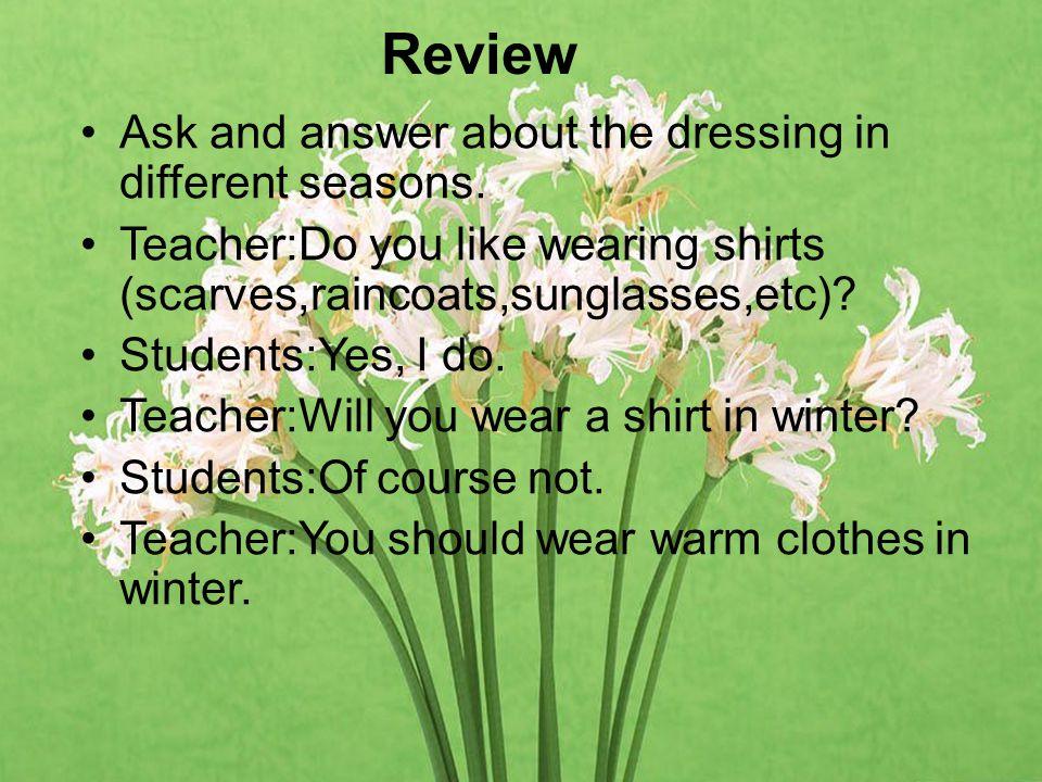 单项选择 1.We should wear different clothes ____ different occasions.