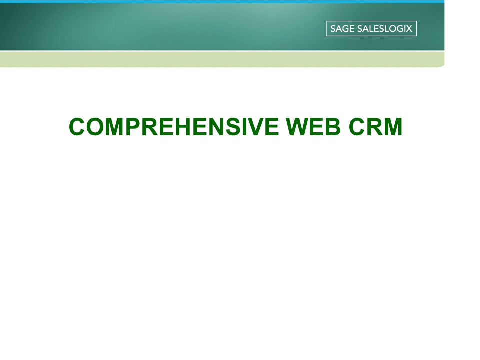 COMPREHENSIVE WEB CRM