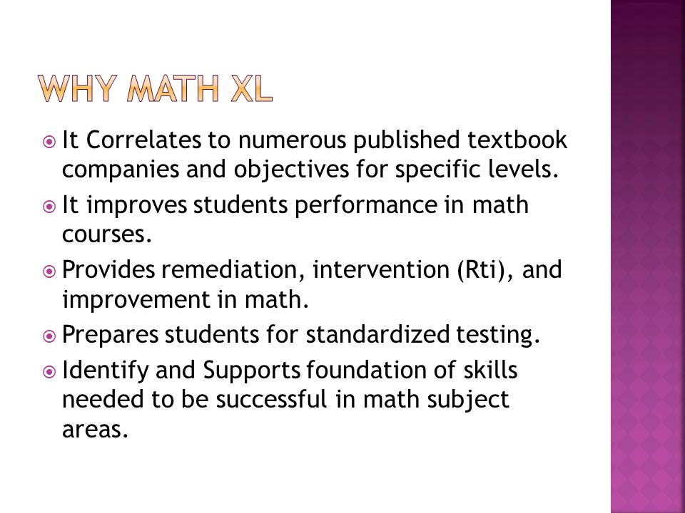 It Correlates to numerous published textbook companies and objectives for specific levels.