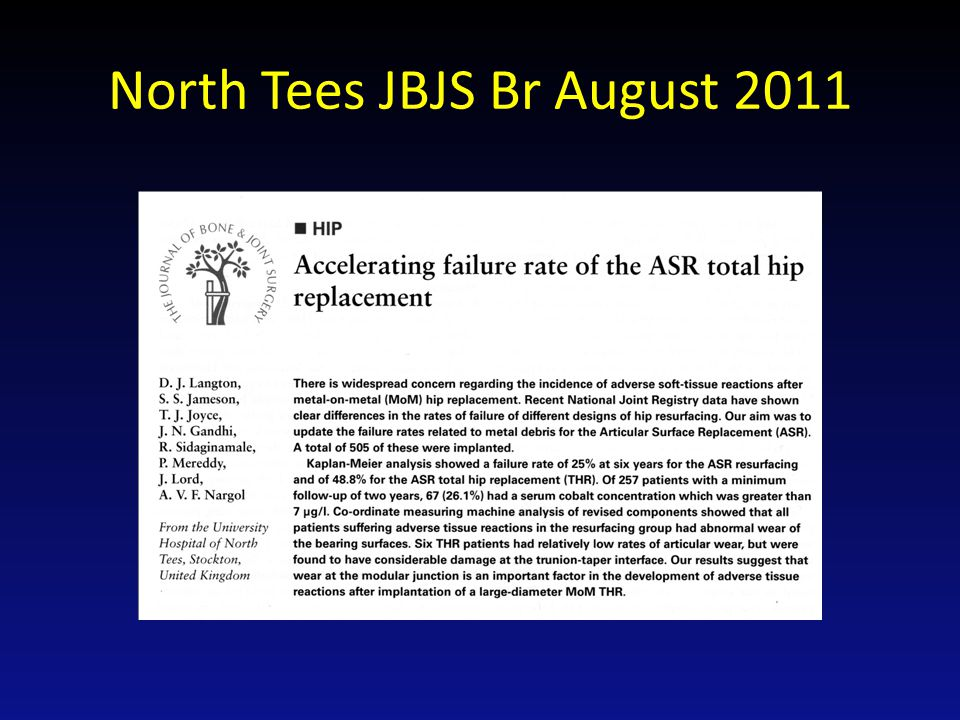 Message to Depuy I implanted 87 ASR xl so I am not influencing the NJR figures