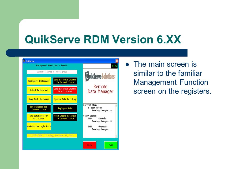 QuikServe RDM Version 6.XX To Launch the program you just need to log in with a user name and password.