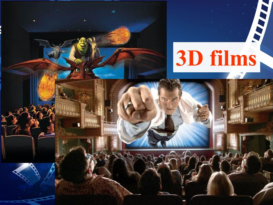 3D film is a film people watch with a special pair of glasses, which gives a three-dimensional effect --- the audience can see the width, height and depth.