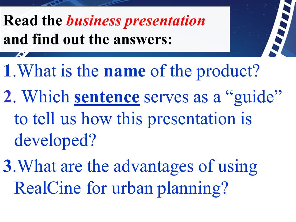 "1.What is the name of the product? 2. Which sentence serves as a ""guide"" to tell us how this presentation is developed? 3.What are the advantages of u"