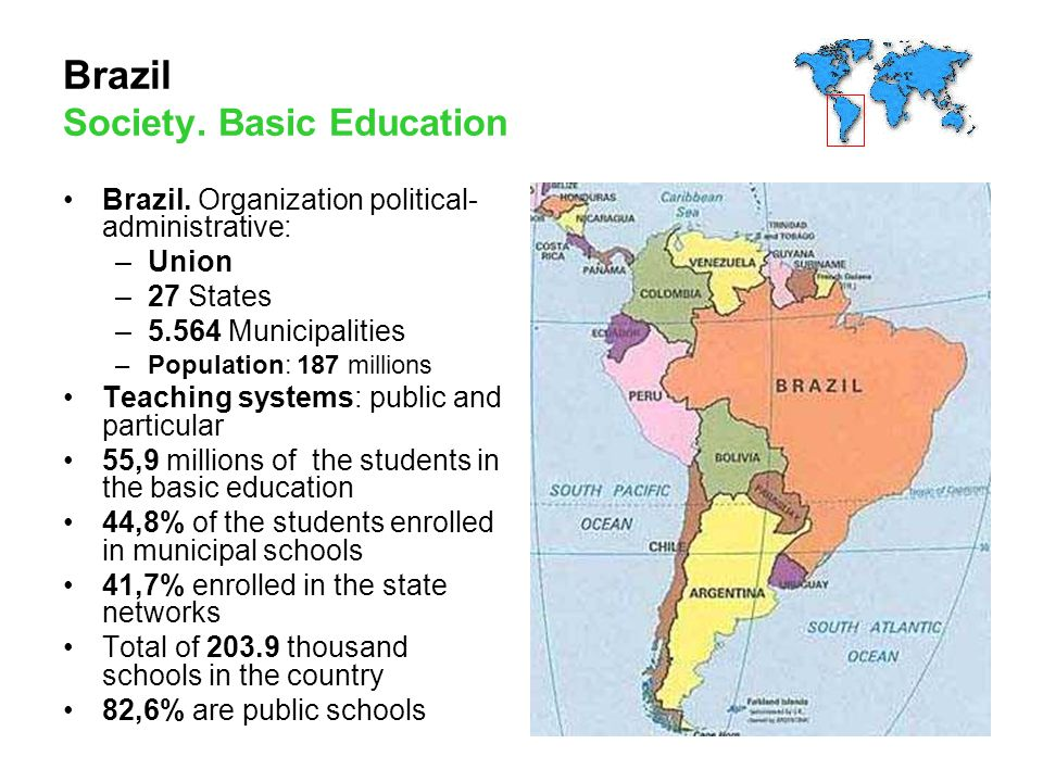 Brazil Society. Basic Education Brazil.