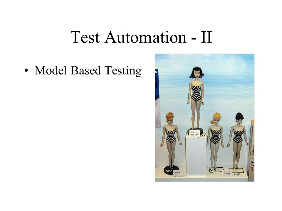 Test Automation - II Model Based Testing