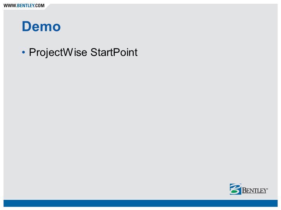 Demo ProjectWise StartPoint