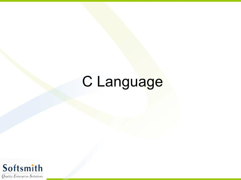Overview of C C is developed by Dennis Ritchie C is a structured programming language C supports functions that enables easy maintainability of code, by breaking large file into smaller modules Comments in C provides easy readability C is a powerful language