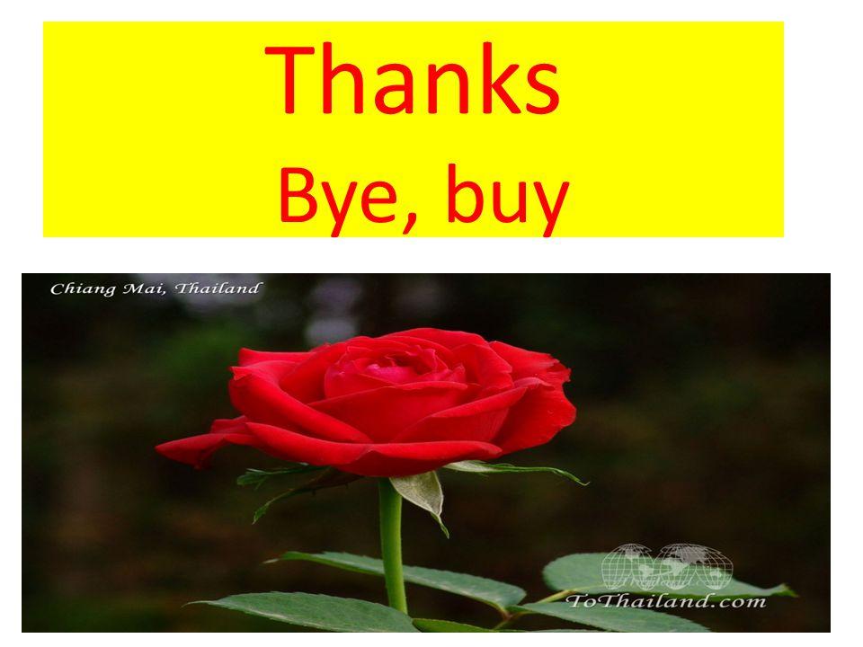 Thanks Bye, buy