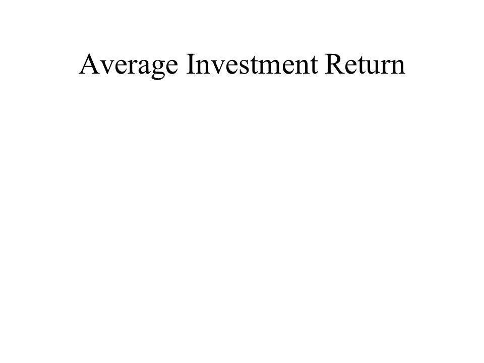 Average Investment Return