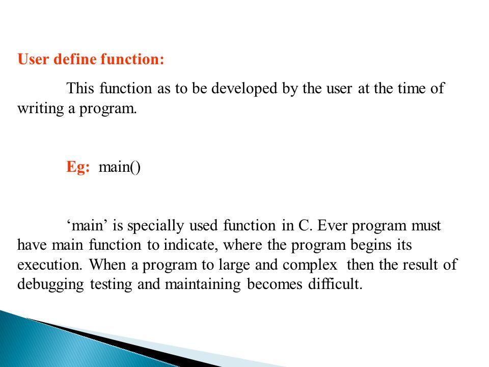  #include  Void print_backward();  Main()  {  Printf( Enter a character ('.') to end );  Print_backward();  }  Void print_backward()  {  Char ch;  Scanf( %c ,&ch);  If(ch != '.')  {  Print_backward();  Printf( %c , ch);  }  i/p : hi o/p: ih