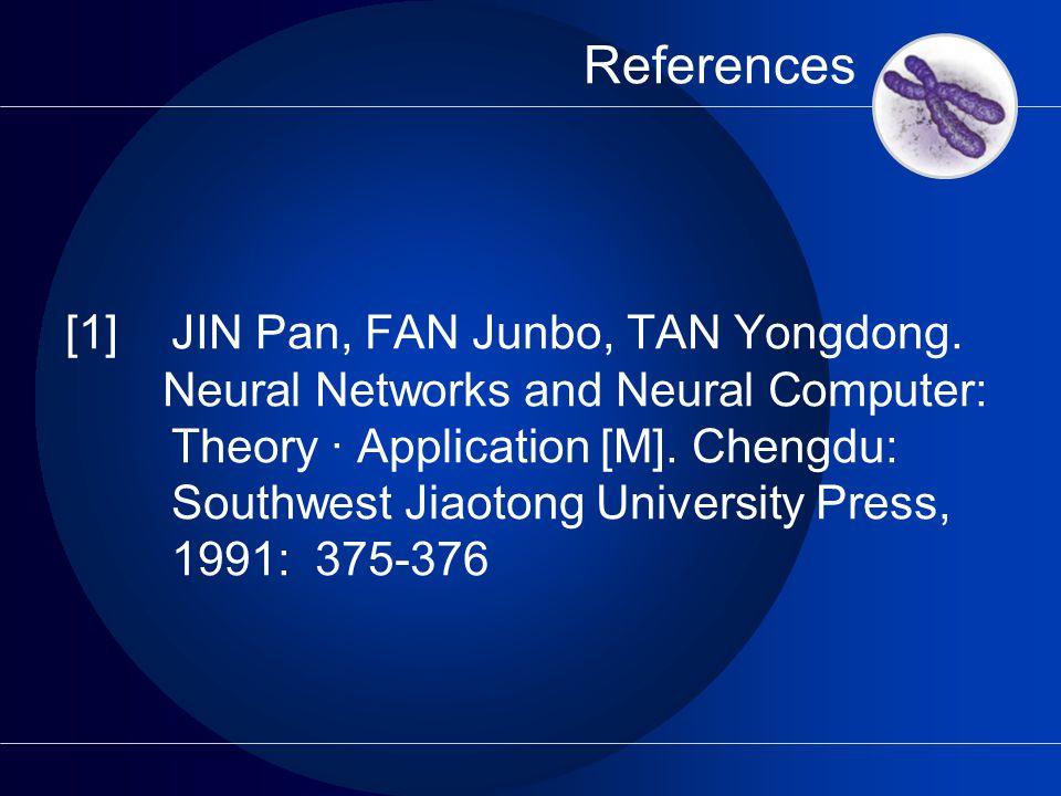 References [1]JIN Pan, FAN Junbo, TAN Yongdong.