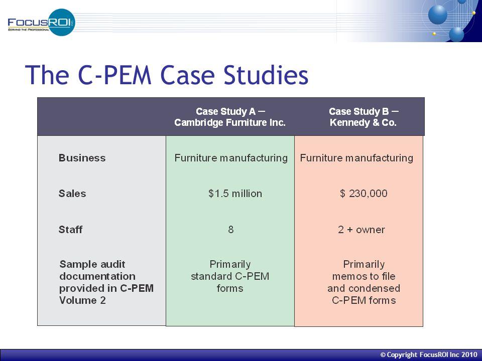 © Copyright FocusROI Inc 2010 Key C-PEM Forms