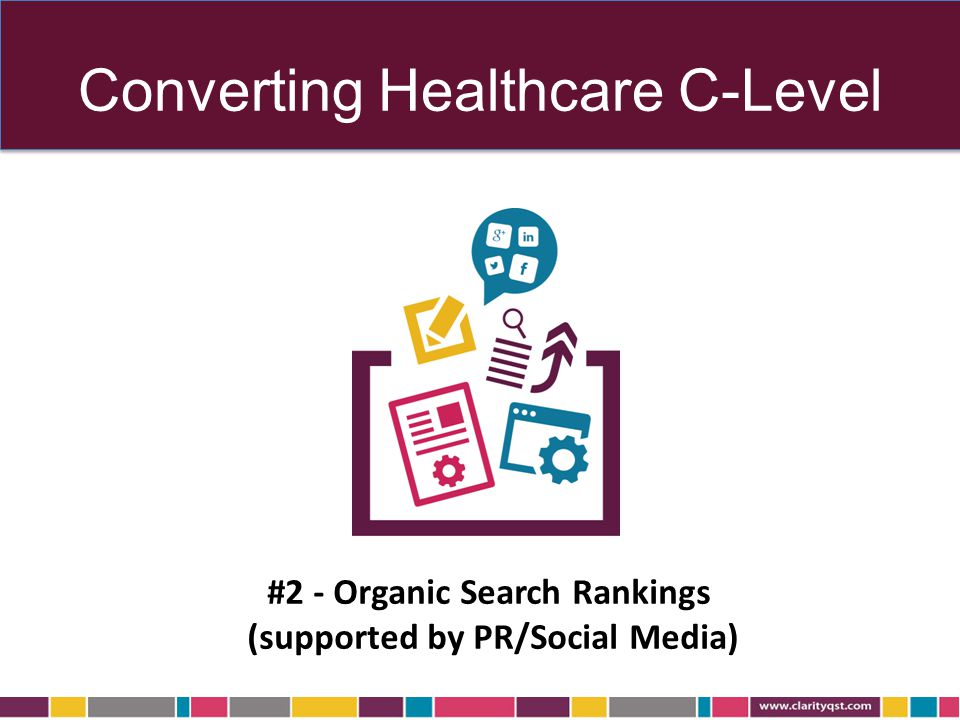 Converting Healthcare C-Level #2 - Organic Search Rankings (supported by PR/Social Media)