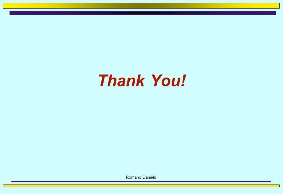 Romano Daniels Thank You!