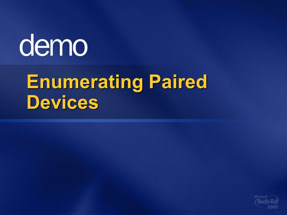 Enumerating Paired Devices