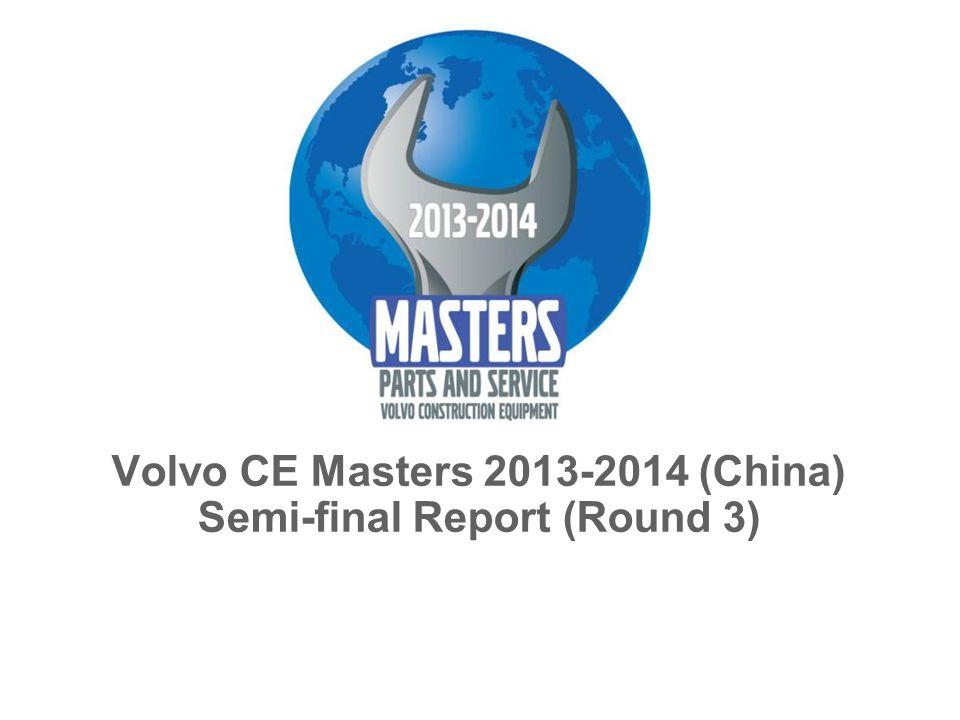 Volvo CE Masters 2013-2014 (China) Semi-final Report (Round 3)