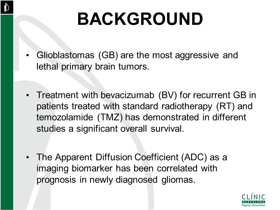 BACKGROUND Glioblastomas (GB) are the most aggressive and lethal primary brain tumors.