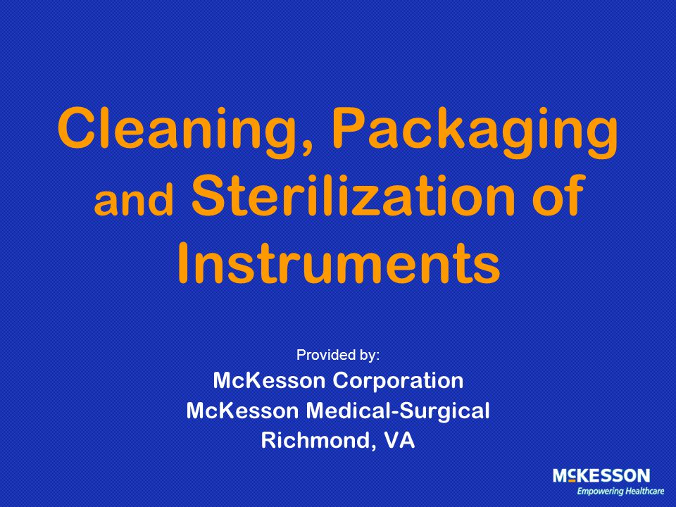 STEP 4 - STERILIZATION Not all instruments can be processed at common or normal cycle times.