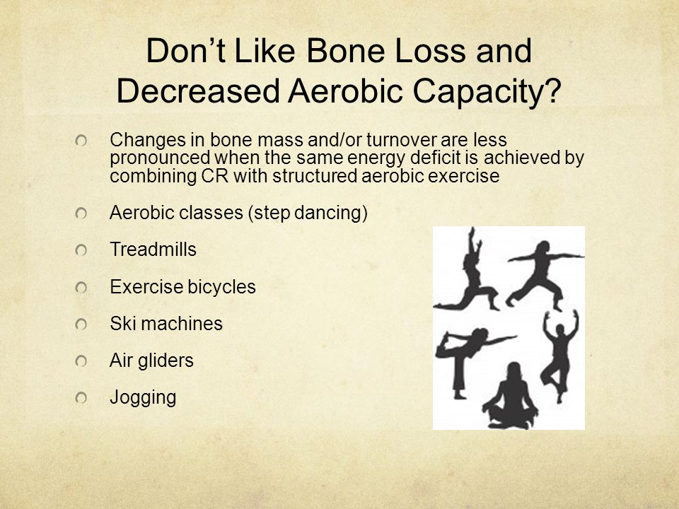 Don't Like Bone Loss and Decreased Aerobic Capacity.