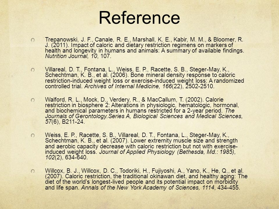 Reference Trepanowski, J.F., Canale, R. E., Marshall, K.