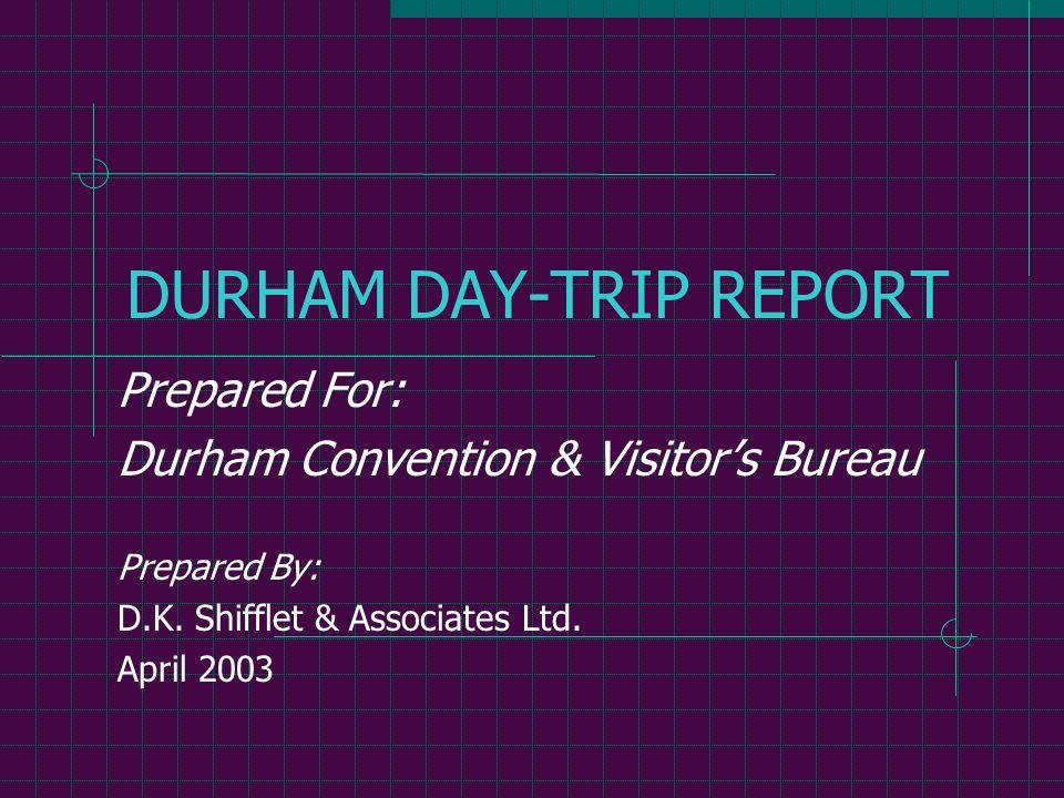 D.K. Shifflet & Associates Ltd.12 Day Trip Distribution Durham vs. Other Cities in Person-Trips