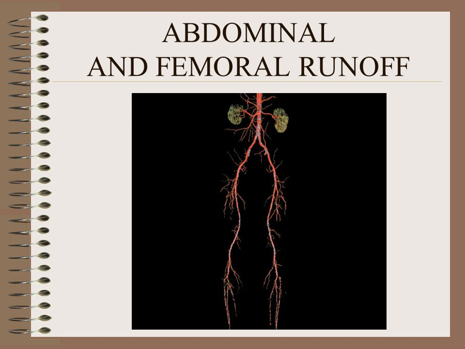 ABDOMINAL AND FEMORAL RUNOFF