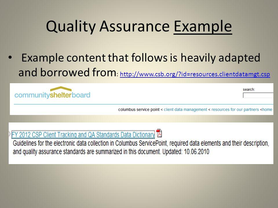 QA Elements Quality Assurance Data Quality Training