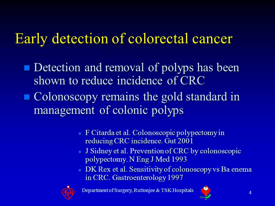 Department of Surgery, Ruttonjee & TSK Hospitals 25 Conclusion n It can share the workload of colonoscopy in surveillance of colonic polyps especially for those patient reluctant for colonoscopy and had incomplete colonoscopy before n Further development and studies require to solve the problems of false +ve rate and flat adenoma