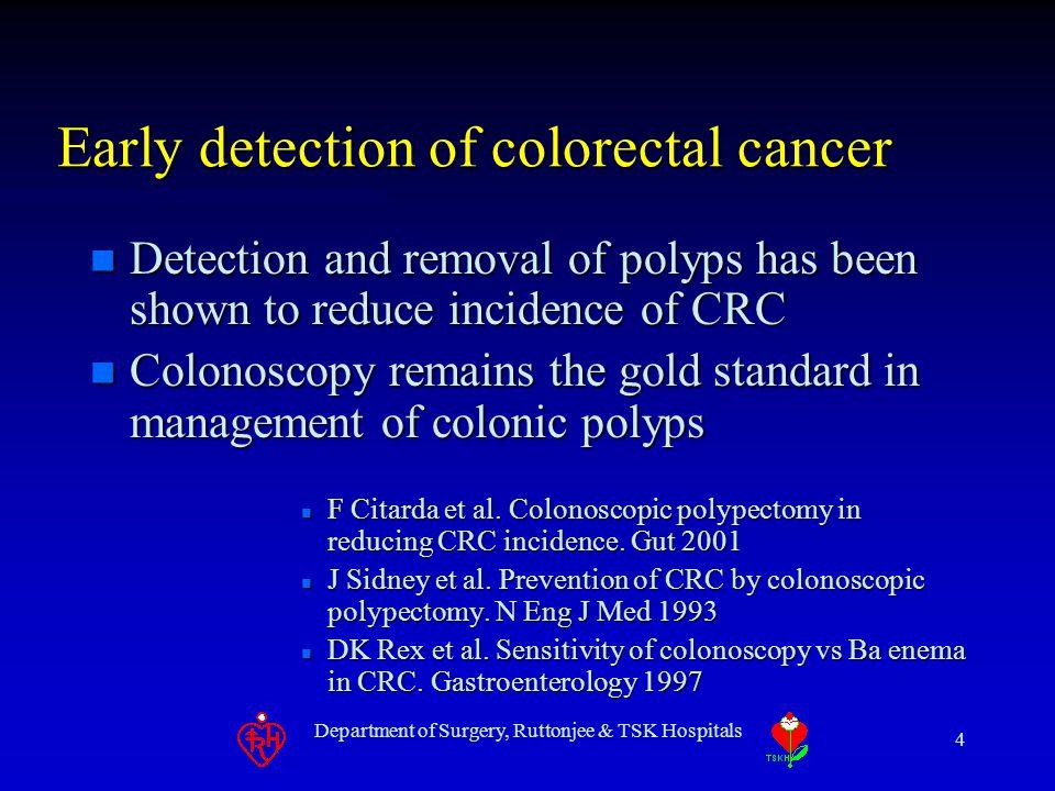 Department of Surgery, Ruttonjee & TSK Hospitals 15 Virtual vs. Actual Colonoscopy