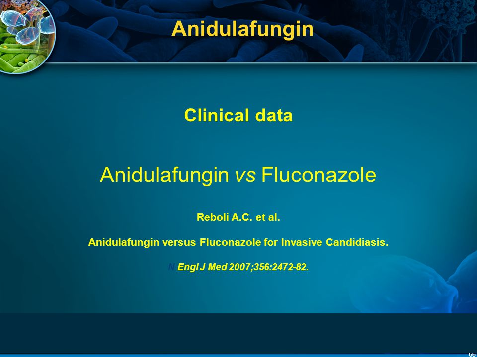 66 Anidulafungin Clinical data Anidulafungin vs Fluconazole Reboli A.C. et al. Anidulafungin versus Fluconazole for Invasive Candidiasis. N Engl J Med